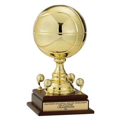 Gold Metal Basketball Trophy