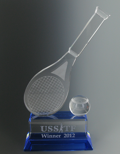 Crystal Tennis Racquet & Ball