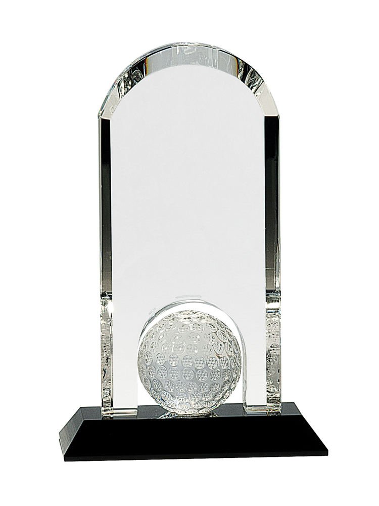 Clear Crystal Dome with Inset Golf Ball